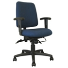 Low Back Ergonomic Chair in Designer Fabric, CD02505