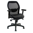 Mesh Back Chair with Leatherette Seat, CD02483