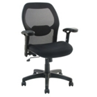 Mid-Back Mesh Chair with Fabric Seat, CD02482