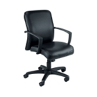 Leather Mid Back Chair on Wheels, 52120