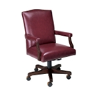 Traditional Mid Back Vinyl Executive Chair, 55385