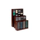Woodgrain Laminate 60-Compartment Literature Organizer, 33123