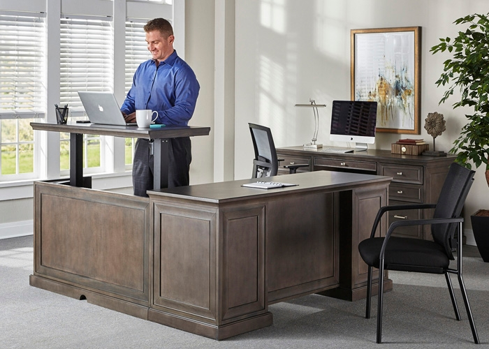 statesman gray office furniture