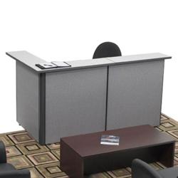 Compact Reversible Reception L-Desk, 20984