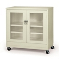 "48""W x 24""D x 85""H Jumbo Mobile See-Thru Storage Cabinet, 31999"