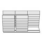 "144""W Medical File Storage Unit with 3 Fixed and 2 Mobile Cabinets, 30835"