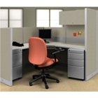 "72""W x 72""D x 66""H Freestanding Single Station Cubicle, 21662"
