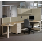 "Freestanding Corner Workstation 48"" x 144"", CD06487"
