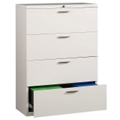 "30"" Wide Four-Drawer Lateral File with Counterweights, 30575"