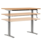 "Adjustable Height Table with Hand Crank - 72"" x 24"", CD06448"
