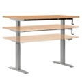 "Adjustable Height Table with Hand Crank - 72"" x 24"", 41566"