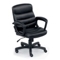 """Stellar Faux Leather Mid-Back Chair with 4"""" Thick Seat, 50837"""