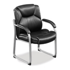 Omega Faux Leather Guest Chair with 350 lb. Weight Capacity, CD03822