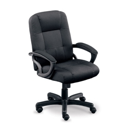Stellar Fabric Mid-Back Chair with Memory Foam Seat, 50839