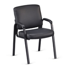 Austin Faux Leather Guest Chair with Padded Arms, CD08201