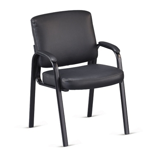 Austin Faux Leather Guest Chair with Padded Arms, 50895