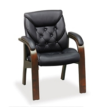 Kingston Collection Faux Leather Guest Chair, 51427