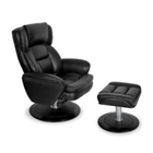 Omega Leather Recliner with Ottoman, 55586