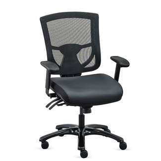Overtime 24/7 Mesh-Back Chair with Polyurethane Seat, 57021