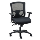 Overtime Collection Mesh Back Chair with Fabric Seat , 57020