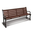 Recycled Plastic Plank Bench 8' W, 85940
