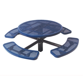 Round Perforated Picnic Table with In-Ground Mount, 85803