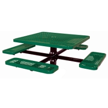 "46"" Square In-Ground Mount Outdoor Table, 91376"