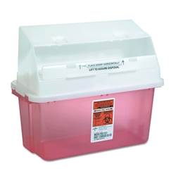 Sharps Freestanding or Wall-Mount Medical Receptacle - 5 Quart Capacity, 85927