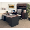 "72""W Executive Bowfront U-Desk with Hutch and High Back Chair , 14829"