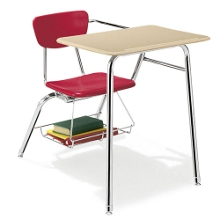 Hard Plastic Chair Desk, 11314
