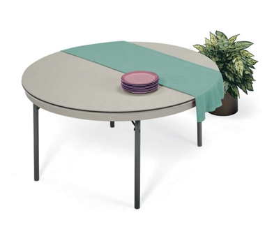"Lightweight Round Folding Table - 72"" Diameter, 44172"