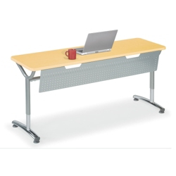 """Adjustable-Height Training Table with Modesty Panel 60""""W x 24""""D, 41434"""