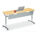 "72""W x 30""D Adjustable Height Table with Modesty Panel, 41437"