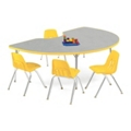 "Kidney Shaped Activity Table 72"" x 48"", 46335"