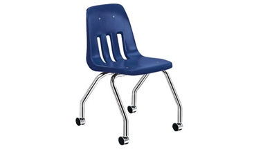 Plastic Student Chair with Casters, 57051