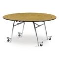 """Round Mobile Folding Table- 72""""Dia, 41389"""