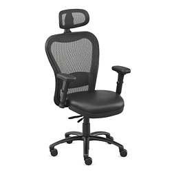 Performa Collection Big and Tall Mesh Chair with Headrest - Polyurethane, 50020