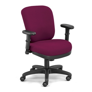 Petite Low Height Compact Ergonomic Fabric Chair, 56565