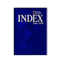 National Geographic 1989-1998 Index