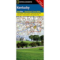 Kentucky Guide Travel and Hiking Map