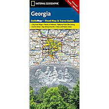 Georgia Guide Travel and Hiking Map