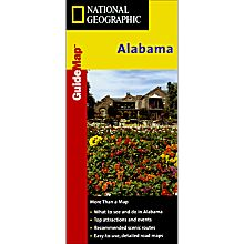 Alabama Guide Travel and Hiking Map