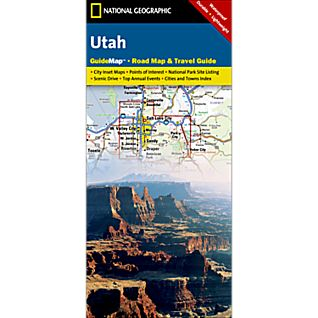 National Geographic Utah Map