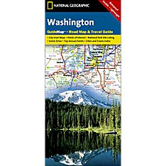 Washington Guide Travel and Hiking Map