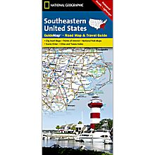 Southeastern USA Guide Travel and Hiking Map