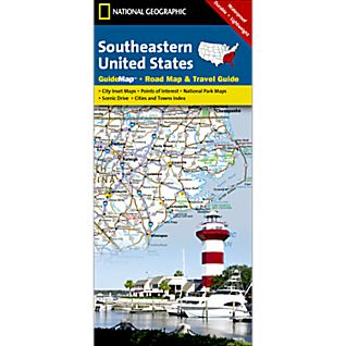 National Geographic Southeastern USA Map