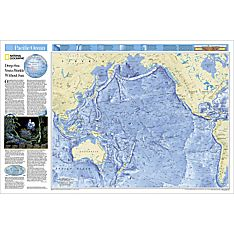 Pacific Ocean Floor Wall Map