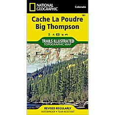 101 Cache La Poudre/Big Thompson Trail Map, 1998