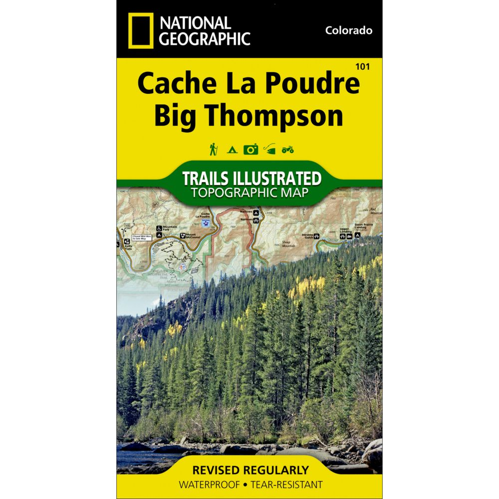 photo: National Geographic Cache La Poudre/Big Thompson Trail Map