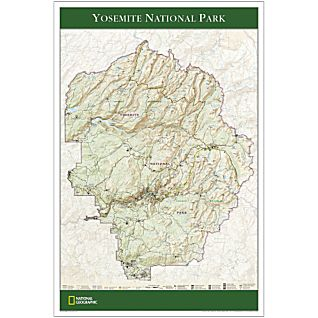 Yosemite National Park Map Poster